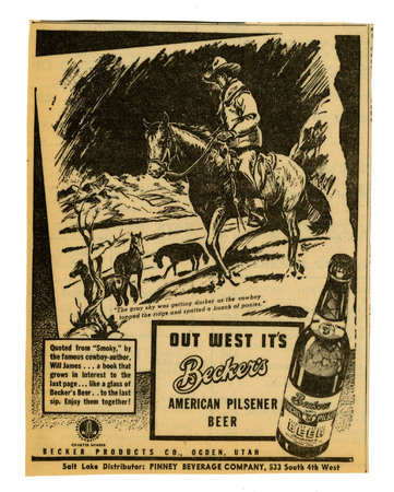 Advertisement for Becker's American Pilsner Beer (18 of 18), 1944
