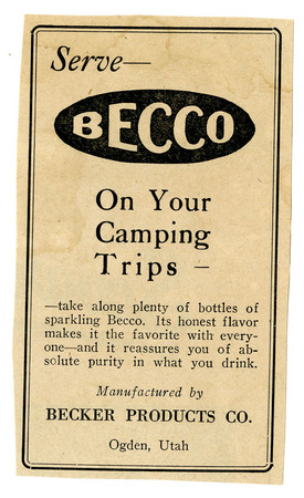 Advertisement for Becker's Becco (1 of 9), 1926
