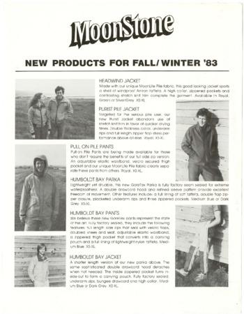 Moonstone, Fall/Winter 1983