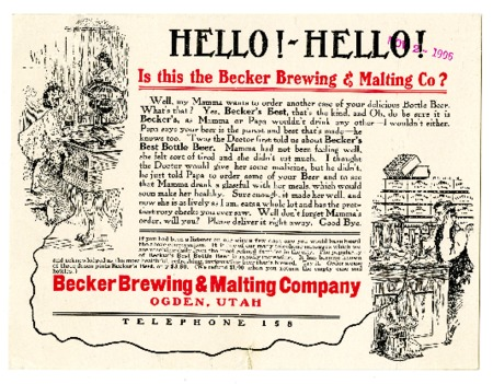 Advertisement for Becker's Best (2 of 29), 1906