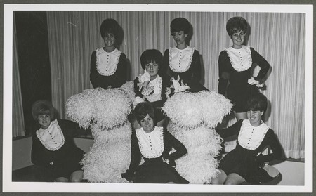 Cheerleading group photograph