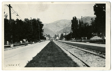 U.I.C. Tracks Looking Toward Downtown Logan on Center Street<br />