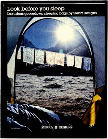 Sierra Designs, sunrise, 1981