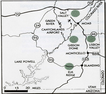 Paradox Basin Testing Locations