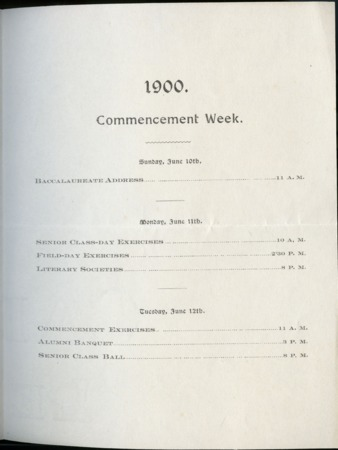 1900 UAC Commencement Invitation, Page 1