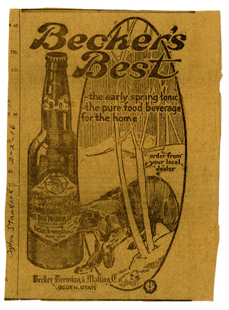 Advertisement for Becker's Best (13 of 29), 1916