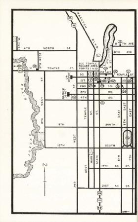Utah State Guide p. 252, Left Half of Salt Lake City Map