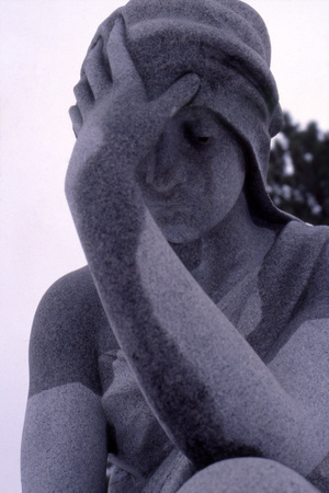 The Weeping Woman, close-up