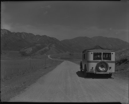 A U.I.C. Passenger Bus in Sardine Canyon, 1926<br />