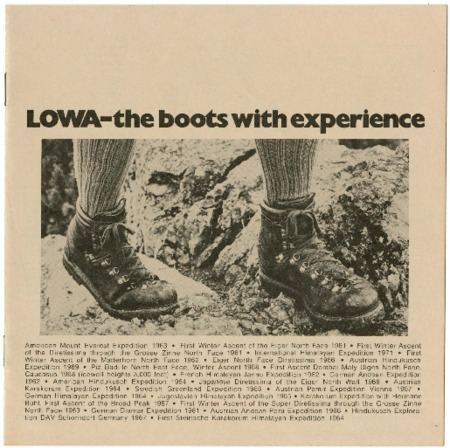 Lowa, the boots with experience, undated