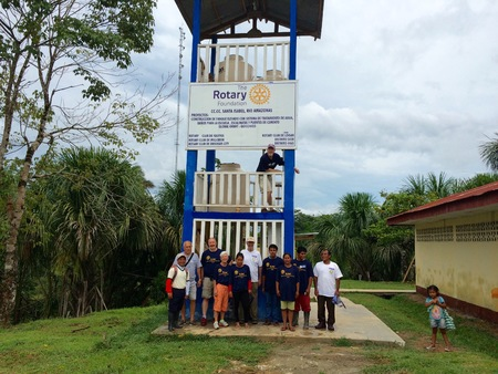 Logan Rotarians Near a Water Purification Tower, 2015