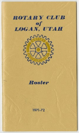 Rotary Club of Logan, Utah Roster, 1971-72