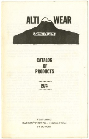 Alti Wear, Catalog of Products, 1974