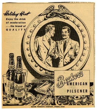 Advertisement for Becker's American Pilsner Beer (6 of 18), 1944