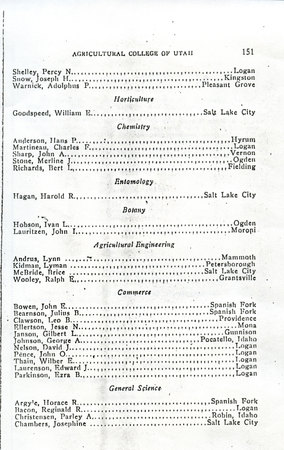 1914 UAC Commencement Program Page 3