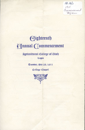 1911 UAC Commencement Program Cover