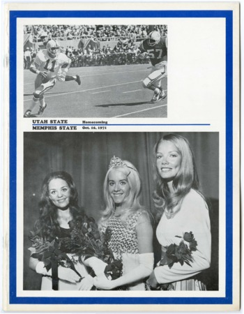 Football program: Utah State University vs Memphis State University, October 10, 1971