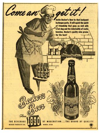 Advertisement for Becker's American Pilsner Beer (12 of 18), 1947