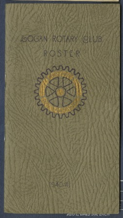 Logan Rotary Club Roster, 1940-41