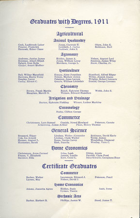 1911 UAC Commencement Program Page 2
