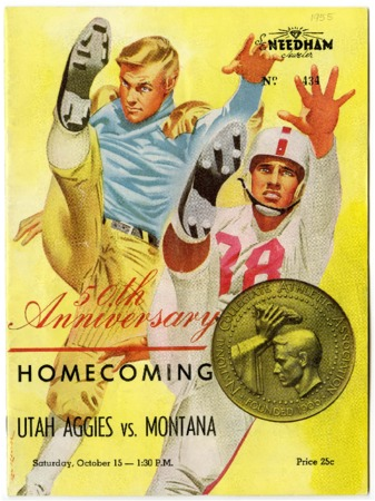 Football program - Utah State vs. University of Montana, October 15, 1955