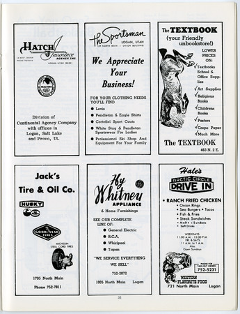 Local advertisements, 1971