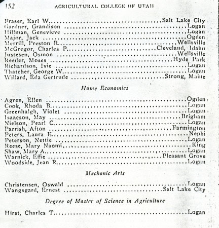 1914 UAC Commencement Program Page 4