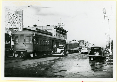 U.I.C. Freight and Passenger Car at the Logan Station on Main Street and 100 South<br />