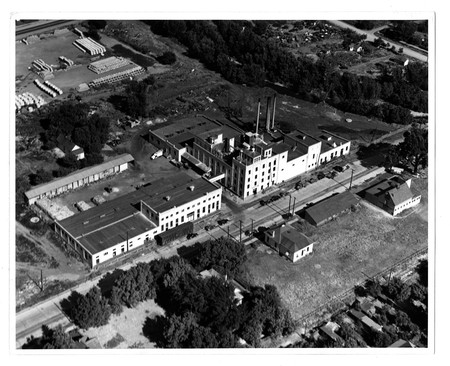 Aerial Photograph of the Becker Products Company Brew Plant, c. 1938