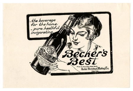Advertisement for Becker's Best (18 of 29), c. 1915