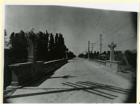 Logan River Bridge and Railroad Tracks, 1930<br />