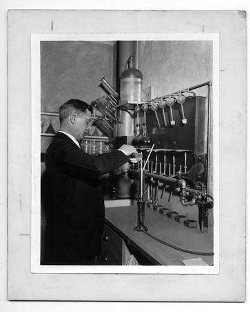 Unknown Chemist at the Becker Brewing and Malting Factory, undated