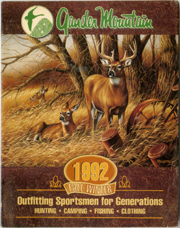 Gander Mountain, Inc., Fall-Winter 1992