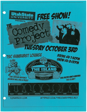 The Comedy Project homecoming flyer