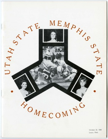 Football program - Utah State University vs Memphis State University, October 25, 1969