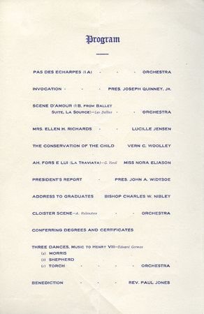 1911 UAC Commencement Program Page 1
