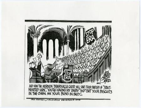 Mormon Tabernacle Choir Stop ERA Political Cartoon