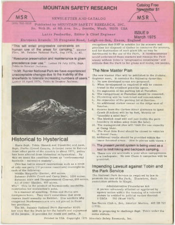 Mountain Safety Research, 1975