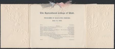 1898 UAC Commencement Program, Page 1