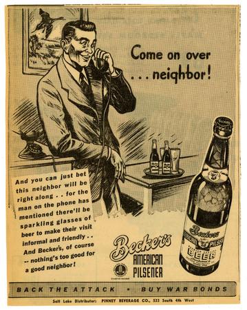 Advertisement for Becker's American Pilsner Beer (14 of 18), 1944