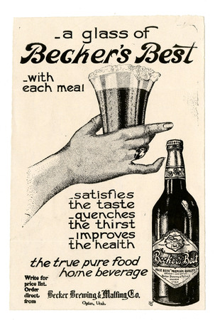 Advertisement for Becker's Best (24 of 28), c. 1915