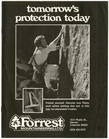 Forrest Mountaineering, Tomorrow's Protection Today, 1978
