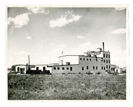 Photograph of the Becker Brewing and Malting Company of Evanston, c. 1940