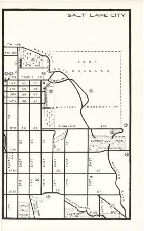 Utah State Guide p. 253, Right Half of Salt Lake City Map