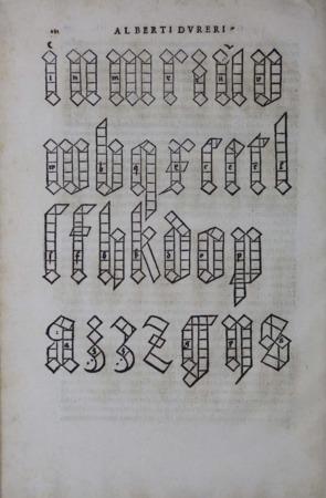 Albrecht Dürer Gothic letters page 1