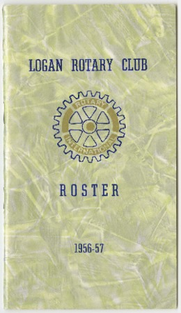 Logan Rotary Club Roster, 1956-57
