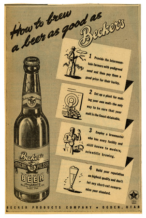 Advertisement for Becker's American Pilsner Beer (5 of 18), 1946