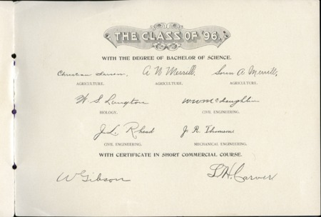 1896 UAC Commencement Invitation, Page 3