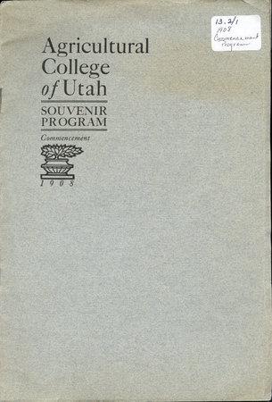 1908 UAC Commencement Program Cover