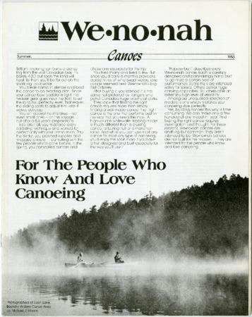 Wenonah Canoe, Summer 1983